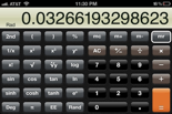 Picture of iPhone scientific calculator