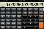 Picture of iPhone scientific calculator