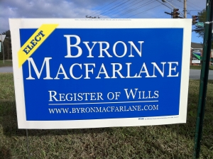 Byron Macfarlane for Register of Wills (2010)