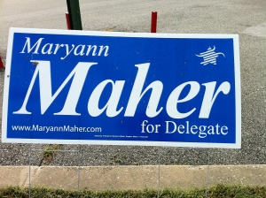 Maryann Maher for Delegate (2010) (with logo)