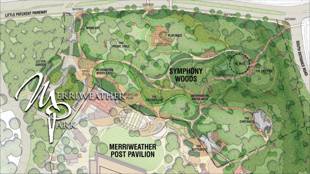 Graphic of Merrieather Park master plan
