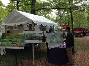 A picture of the Inner Arbor Trust tent at Wine in the Woods