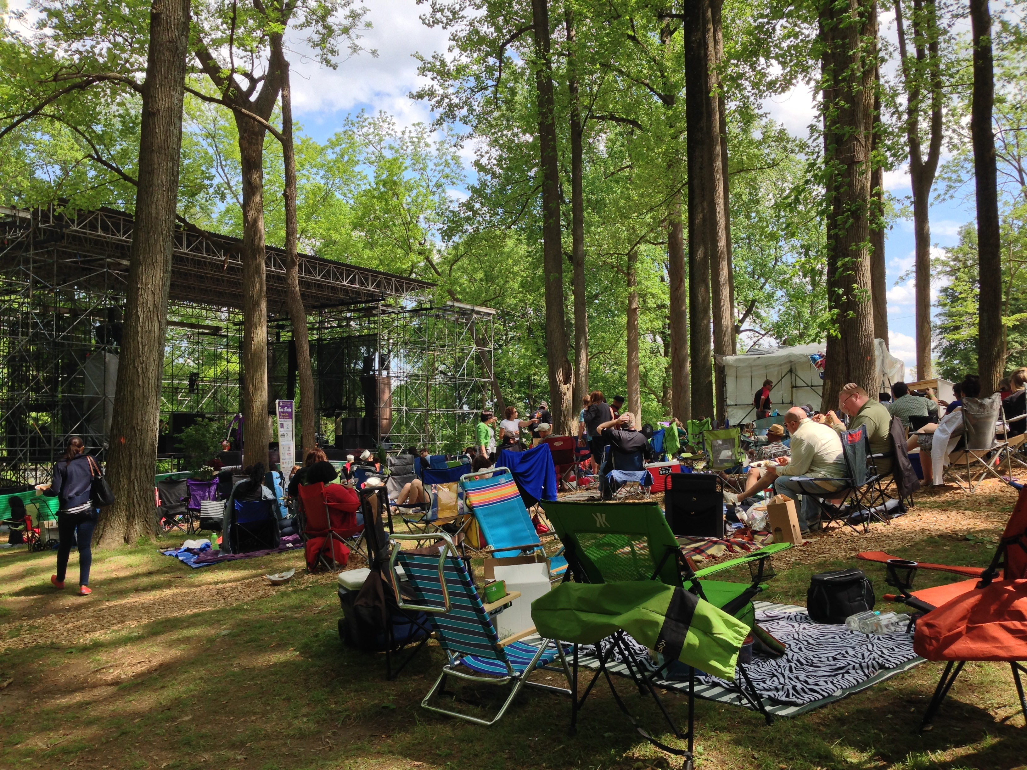 Outdoor Stage In The Woods