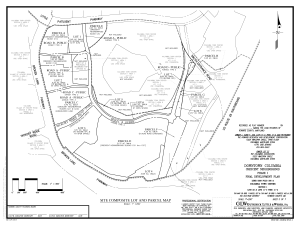 Crescent neighborhood site composite lot and parcel map